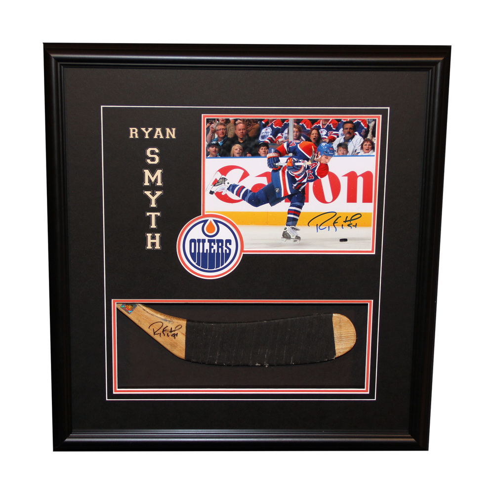 Ryan Smyth #94 - Autographed Game Used Stick Blade & 8x10 Photo Frame Pack