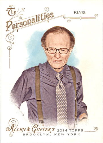 Photo of 2014 Topps Allen and Ginter #81 Larry King