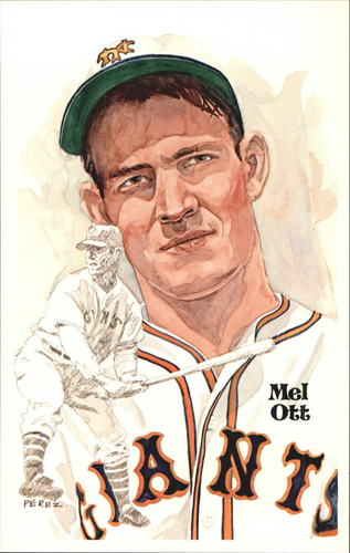 Photo of 1980-02 Perez-Steele Hall of Fame Postcards #60 Mel Ott -- HOF Class of 1951