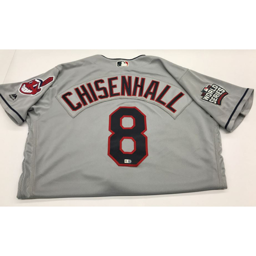 Lonnie Chisenhall Team-Issued 2016 World Series Road Jersey