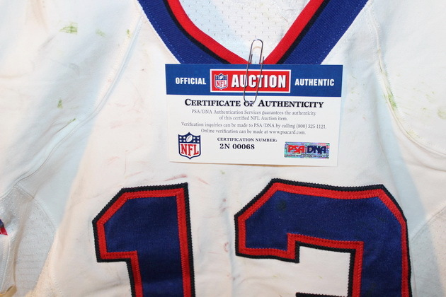 NFL Auction | BILLS STEVIE JOHNSON GAME USED JERSEY (OCTOBER 2013)