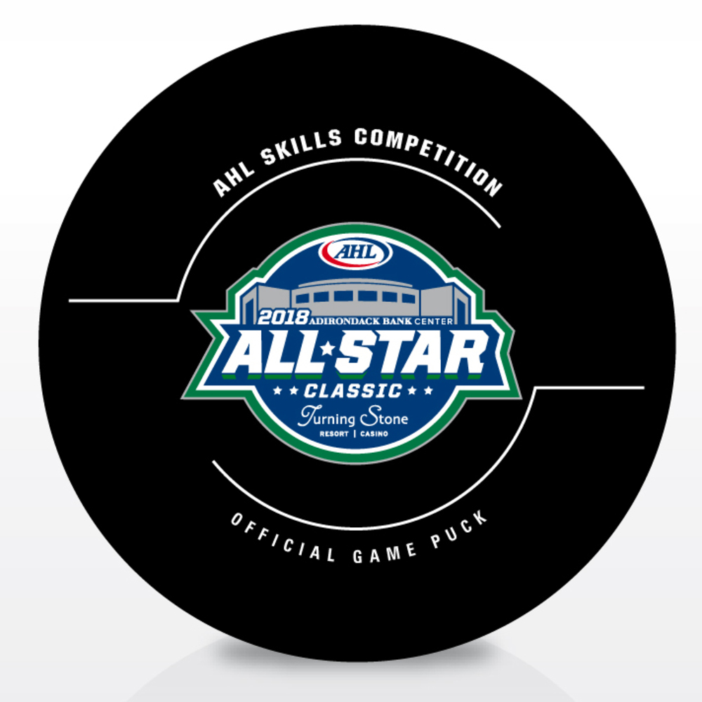 2018 Skills Competition CCM Hardest Shot-Used Puck- #3 Brady Austin- Attempt 1