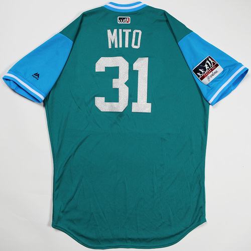 "Photo of Erasmo ""Mito"" Ramirez Seattle Mariners Game-Used Players' Weekend Jersey"