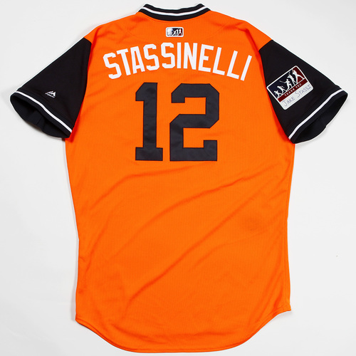 "Photo of Max ""Stassinelli"" Stassi Houston Astros Game-Used 2018 Players' Weekend Jersey"