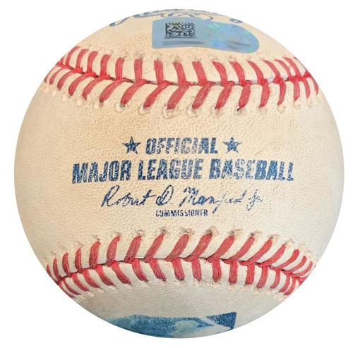 Photo of Game-Used Baseball from Pirates vs. Reds on 4/8/18 - Josh Harrison Foul
