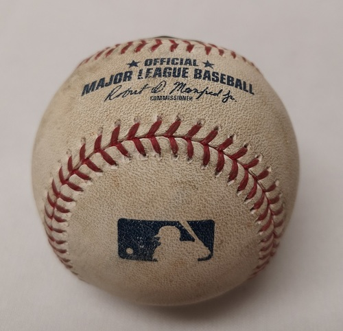 Photo of Authenticated Game Used Baseball - Wilson Ramos Single against Roberto Osuna (August 17, 2017 vs TB). Top 9.
