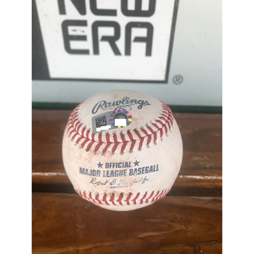 Photo of Cardinals Authentics: Game Used Ball Pitched by Bud Norris to Travis Shaw and Eric Thames *Strikeout (Shaw), Triple (Thames)*