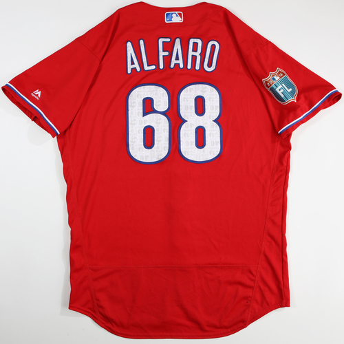 Photo of 2016  Spring Training -  Game-Used Jersey - Jorge Alfaro (Phillies) - Size 46