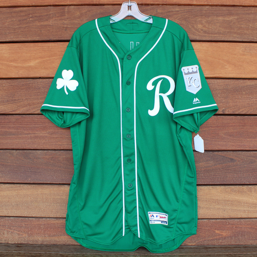 Photo of Game-Used Saint Patrick's Day Jersey: Tim Hill (KC @ SF - 3/17/19) (Size 48)