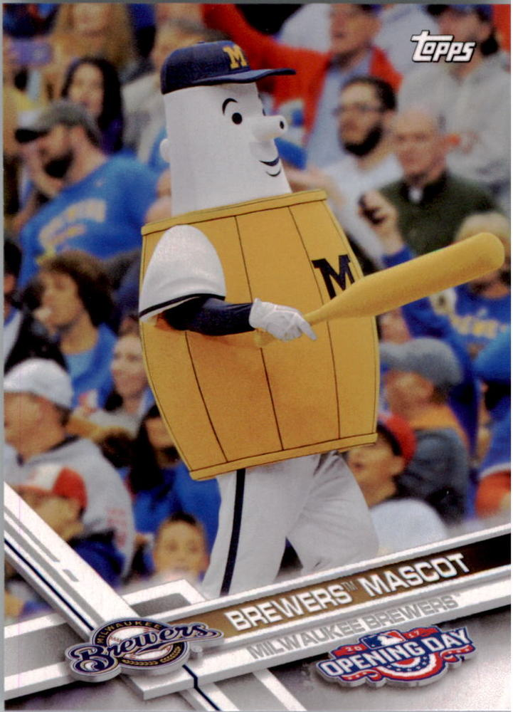 2017 Topps Opening Day Mascots #M25 Brewers Mascot