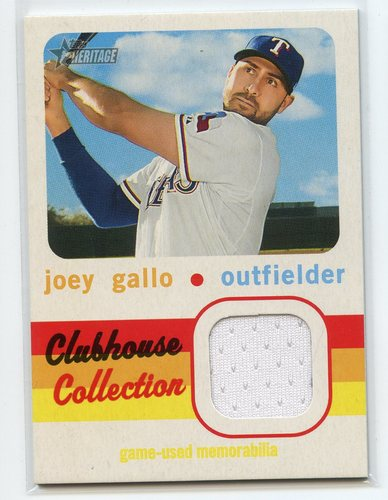 Photo of 2020 Topps Heritage Clubhouse Collection Relics #CCRJG Joey Gallo