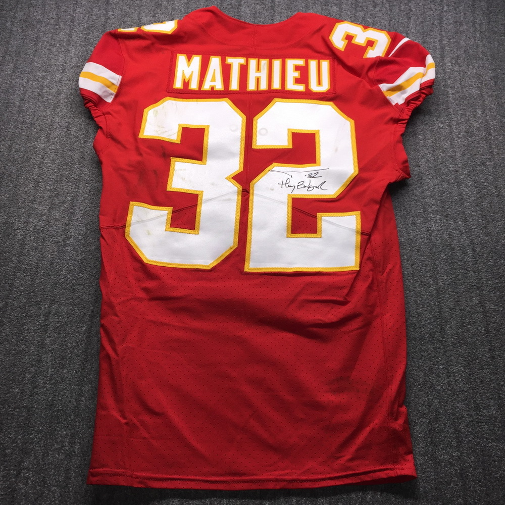 NFL Auction | STS - Chiefs Tyrann Mathieu Signed Game Used Jersey ...