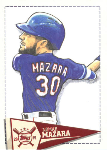 Photo of 2019 Topps Big League Star Caricature Reproductions #SCRNM Nomar Mazara