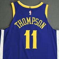 Klay Thompson - Golden State Warriors - NBA China Games - Game-Worn Icon Edition Jersey - Scored 28 Points - 2017-18 NBA Season
