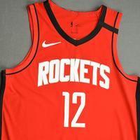 Luc Mbah a Moute - Houston Rockets - Game-Worn Icon Edition Jersey - Dressed, Did Not Play (DNP) - 2019-20 NBA Season Restart with Social Justice Message