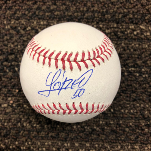 Photo of Yoan López Autographed Baseball