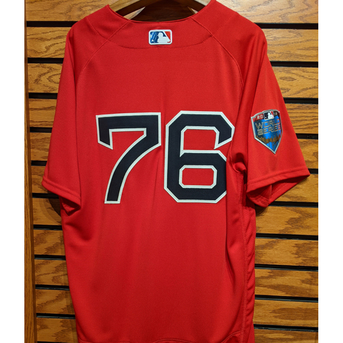 2018 World Series Hector Velazquez #76 Red Home Alternate Team Issued Jersey