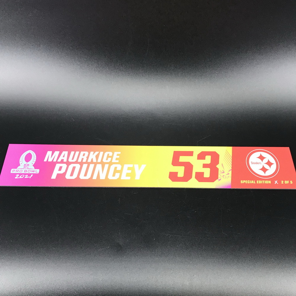 NFL - Steelers Maurkice Pouncey 2021 Pro Bowl Locker Nameplate Special Edition #2 of 5