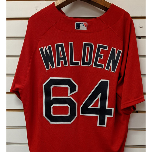 Photo of Marcus Walden #64 Team Issued Nike Red Spring Training Jersey