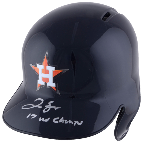 Photo of George Springer Houston Astros 2017 MLB World Series Champions Autographed Replica Batting Helmet with 2017 WS Champs Inscription