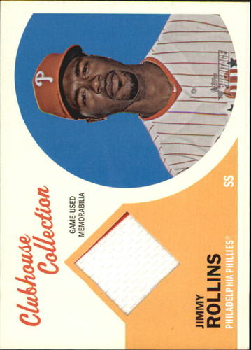 Photo of 2012 Topps Heritage Clubhouse Collection Relics #JRO Jimmy Rollins