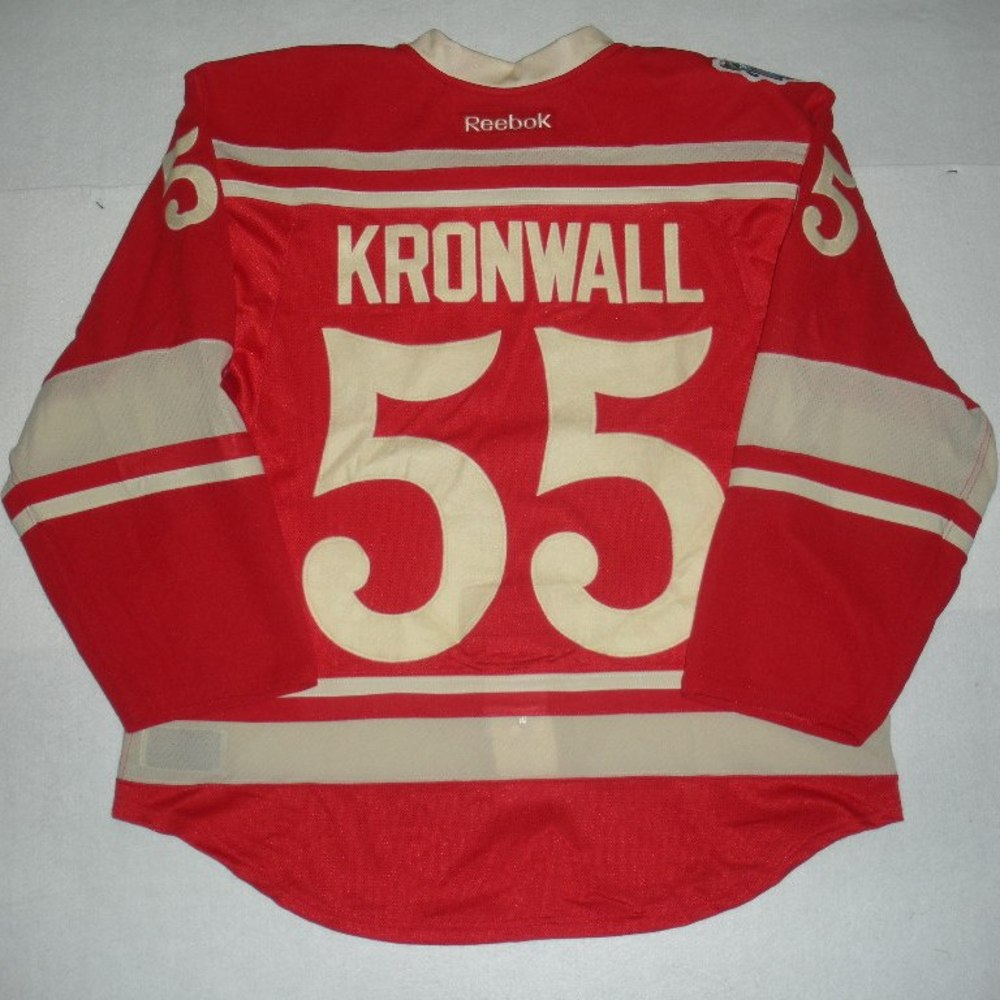 fb7ddf2f7  55 Niklas Kronwall - 2014 Winter Classic - Detroit Red Wings - Red  Game-Worn Jersey - Worn in First Period