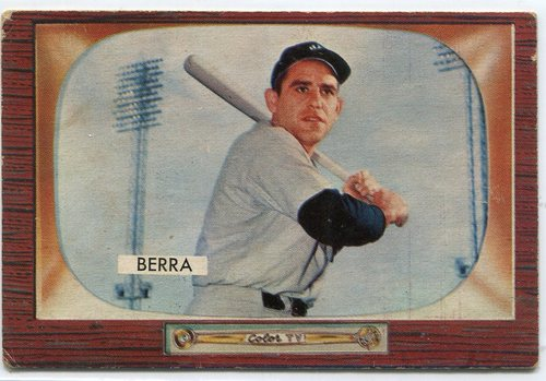 Photo of 1955 Bowman #168 Yogi Berra-- Hall of Famer