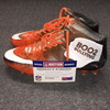 MY CAUSE MY CLEATS - BROWNS RANDALL TELFER GAME WORN CUSTOM CLEATS (DECEMBER 3, 2017)