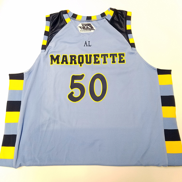 Photo of No. 50 Championship Blue Marquette Jersey