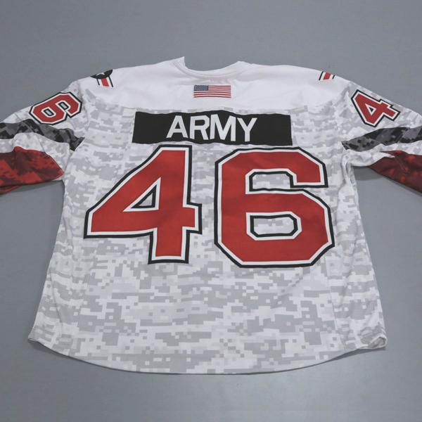 "Photo of Ohio State Ice Hockey Military Appreciation Jersey #46 ""Army"" / Size 54"