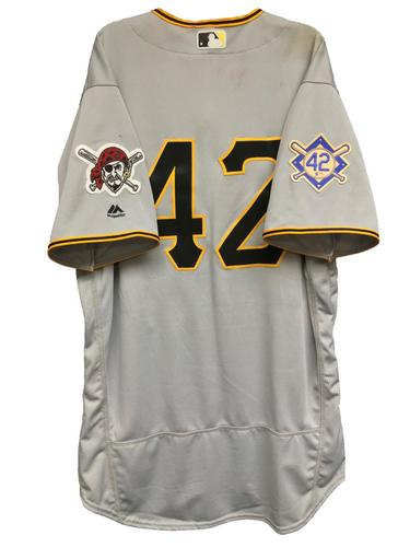 Photo of Francisco Cervelli Game-Used 2018 Jackie Robinson Day Jersey - 1 for 3, RBI