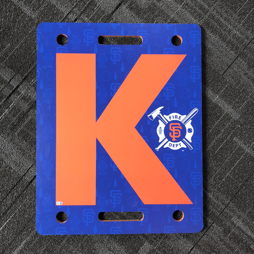 "Photo of 2018 San Francisco Giants - Fire Fighter Appreciation Night - Team Issued ""K Board"""
