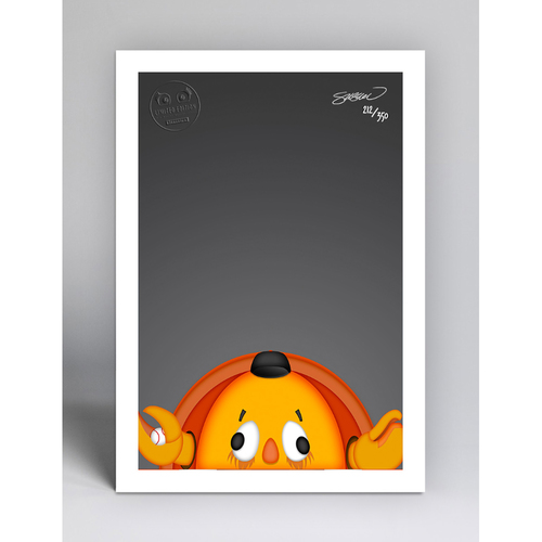 Photo of Crazy Crab - Limited Edition Minimalist Mascot Art Print by S. Preston  - San Francisco Giants