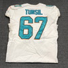 Crucial Catch - Dolphins Laremy Tunsil game worn Dolphins jersey (October 8, 2017) Size 46