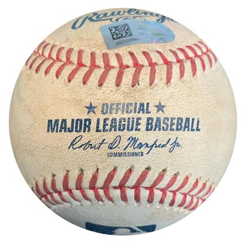 Photo of Game-Used Baseball from Pirates vs. Rockies on 4/16/18 - Three Pitches to Corey Dickerson