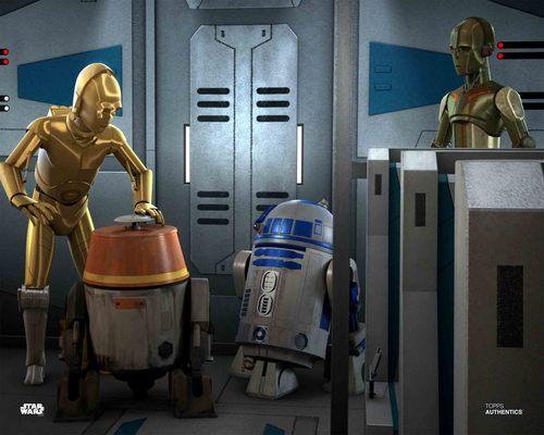 C-3PO, Chopper and R2-D2