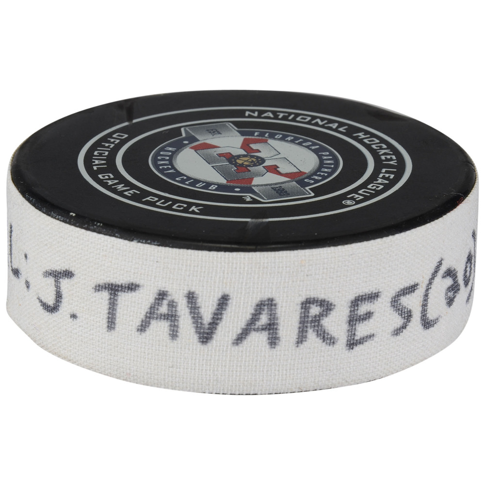 John Tavares Toronto Maple Leafs Game-Used Goal Puck from December 15, 2018 @ Florida Panthers