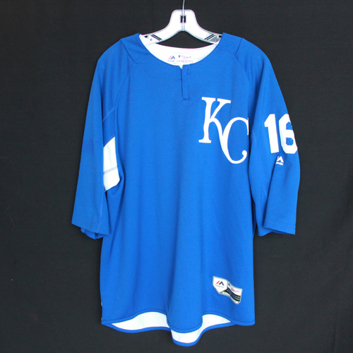 Photo of Team-Issued Batting Practice Jersey: #16 (Size - XL)