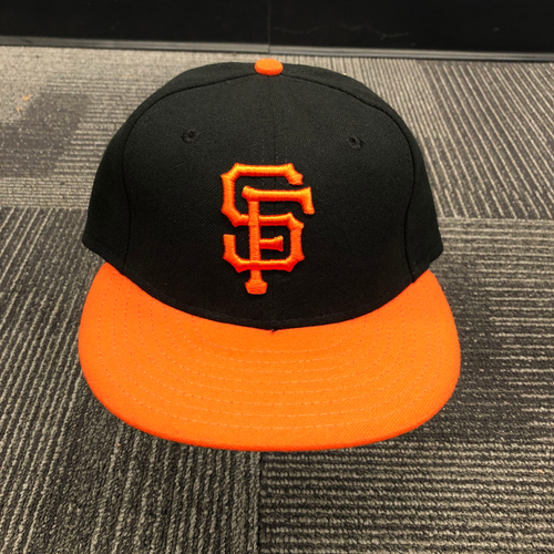 Photo of 2016 Game Used Orange Bill Cap Worn by #14 Trevor Brown - Size 7