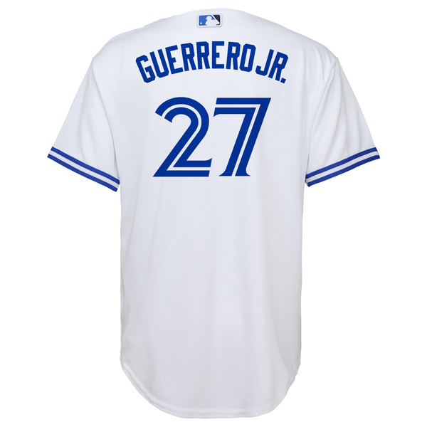Toronto Blue Jays Youth Guerrero Jr. Home Replica Jersey by Majestic