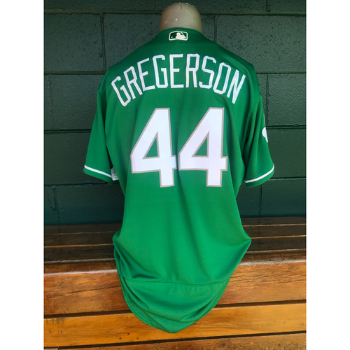 Photo of Cardinals Authentics: Game Worn Luke Gregerson Green St. Patrick's Day Jersey