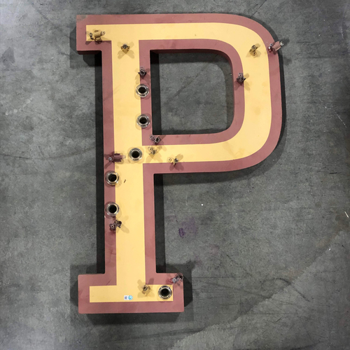 "Photo of AT&T Park Neon Letter ""P"" - 29""x20""x1"""