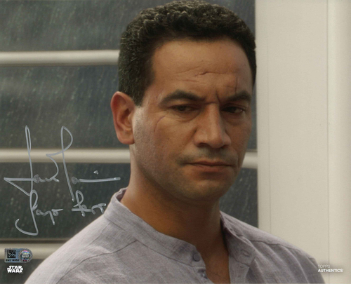 Temuera Morrison As Jango Fett 8X10 Autographed IN 'SILVER' INK PHOTO