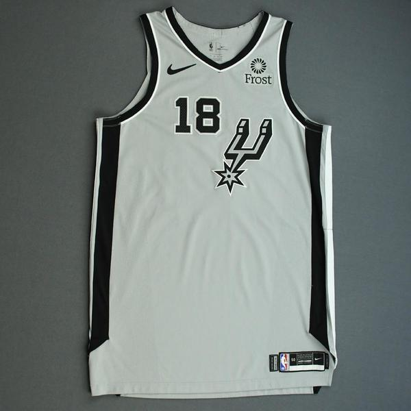 Image of Marco Belinelli - San Antonio Spurs - Game-Worn Statement Edition Jersey - NBA Mexico Games - 2019-20 NBA Season