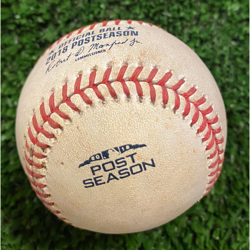 Photo of Justin Turner Game Used Hit Single Ball - 2018 NLDS - 10/7/18