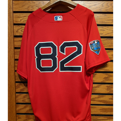 2018 World Series Coach Tom Goodwin #82 Red Home Alternate Team Issued Jersey