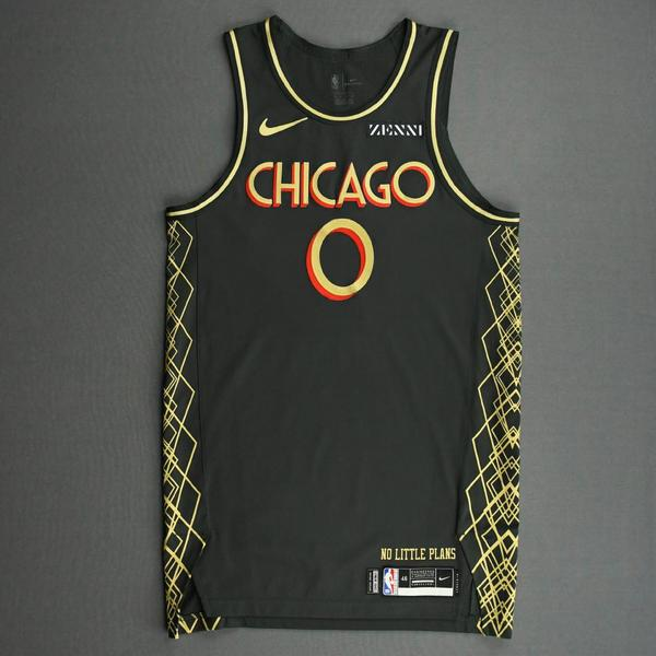 Image of Coby White - Chicago Bulls - City Edition Jersey - Scored 20 Points - 2020-21 NBA Season