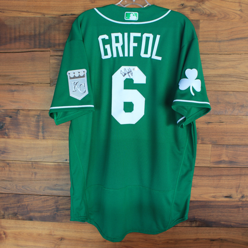 Photo of Autographed 2020 St. Patrick's Day Jersey: Pedro Grifol #6 - Size 48