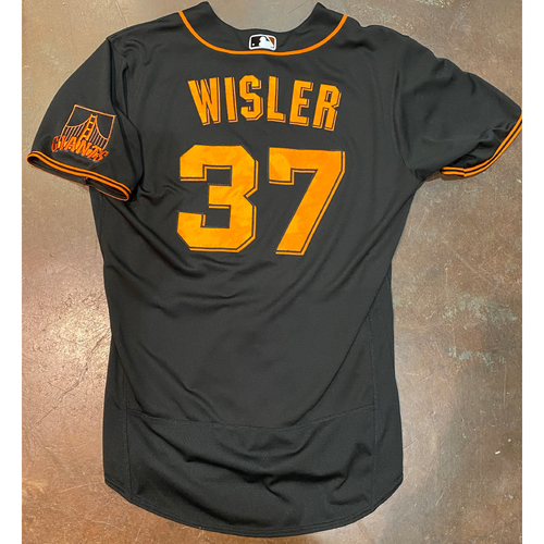 Photo of 2021 Team Issued Black Home Alt Jersey - #37 Matt Wisler - Size 46