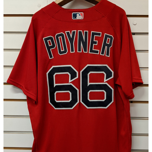 Photo of Bobby Poyner #66 Team Issued Nike Red Spring Training Jersey